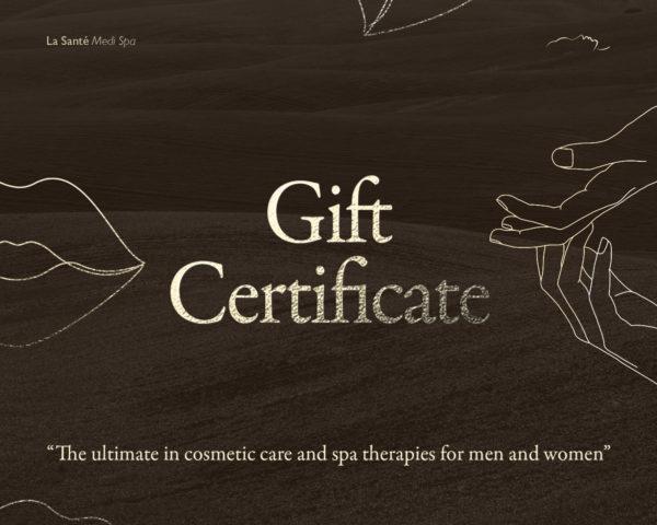 la sante gift certificate